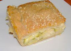 Κολοκυθομπούρεκο (χανιώτικο μπουρέκι με κολοκύθια) - Κρήτη: Γαστρονομικός Περίπλους Main Menu, Spanakopita, Greek Recipes, Flan, Cornbread, Lasagna, Sandwiches, Recipies, Vegetarian