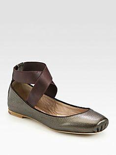 Chloe - Metallic Leather Ballet Flats