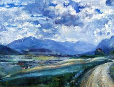 Inn Valley Landscape  Lovis Corinth