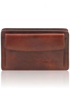 DENIS TL141445 Exclusive leather handy wrist bag for man