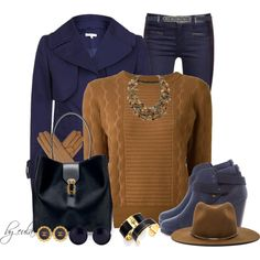 """Color Zone 8: In the Navy (Outfit Only)"" by eula-eldridge-tolliver on Polyvore"