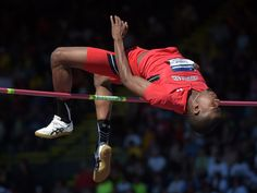 Jacorian Duffield of Texas Tech wins the high jump at 7-5 3/4 (2.28m) in the 2015 NCAA Track & Field Championships at Hayward Field.  Kirby Lee, USA TODAY Sports