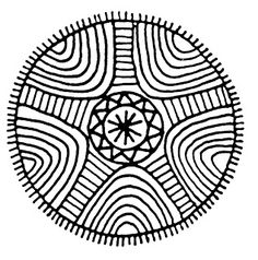 Mandalas Para Pintar: Mandalas étnicos