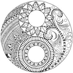 Ying yang coloring pages yin mandala Adult Coloring Book Pages, Mandala Coloring Pages, Colouring Pages, Coloring Books, Mandala Pattern, Mandala Design, Zentangle Patterns, Doodle Art Drawing, Mandala Drawing