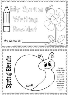 Spring Writing Worksheets Science, Reading and Writing - 80 pages$