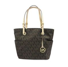 all bags for women (@bestbagstweets) | Twitter Auth Michael Kors Brown PVC GHW Shoulder Tote #Bag