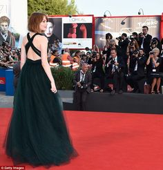 Flawless: The star's gown boasted a criss-cross detailing at the back