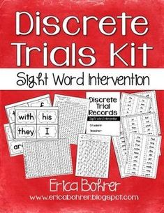 Discrete trials are generally used for special education students on the Autism spectrum.  Discrete trials can be modified and used in a general education classroom with similar success.   Students reading significantly below grade level are often lacking