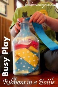 Busy Toddler Play: Ribbons in a Bottle