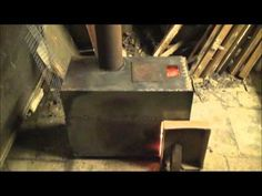 rocket stove with boiler build and burn - YouTube