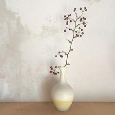 花器。 #ceramics#pottery#vase#craft#glaze#陶芸#陶器#花器#花瓶#器#うつわ