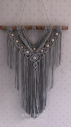 Macrame Wall Hanging   July 2021 Macrame Art, Micro Macrame, Diy Wall Art, Yarn Crafts, Wall Hangings, All Design, Tassel Necklace, Arts And Crafts, Create