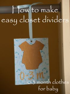 DIY closet dividers, blue and gold nursery, baby boy, 0-3, 3-6, 6-9, 9-12 months  Our Daily Coffee » Blog
