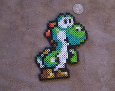 Yoshi Super Mario World Perler Bead Art by PaintedPixl on Etsy