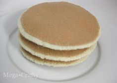 Mega•Crafty: Felt Food: Pancakes Anyone?