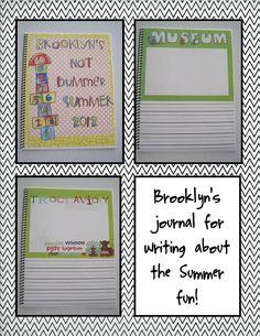 Kid'd Summer Writing Journal