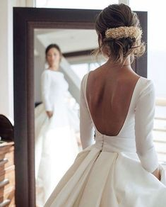 Long sleeves wedding dresses bridal gowns large