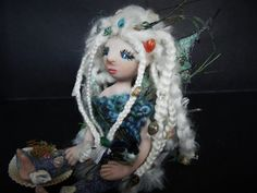 Sea fairy doll. Polymer art doll winged fairy doll by TinkerWhims