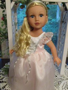 """Pink Princess Gown for 18"""" American Girl Doll as Rapunzel or Cinderella by Emmakate0 on Etsy"""