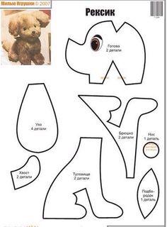 12 Moldes, Paps Moldes, Peluche Aprender, 2 Aprender, Moldes Buscar, Peluches Patrones, Perritos De, Chorradikas De, Feltro Costuras