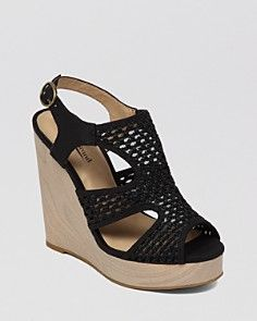 Lucky Brand Open Toe Platform Wedge Espadrille Sandals - Remy Crochet