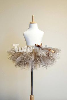 Brown Leopard Tutu Skirt, Beige and Brown Tulle Skirt, Leopard Print Tutu, Cheetah Tutu, Leopard Costume, Birthday Tutu, Halloween Costume
