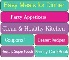 easy dinner ideas & healthy meals & recipes for dinner