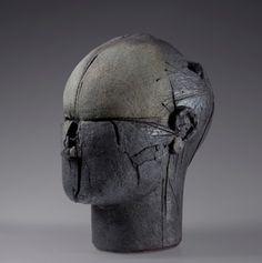 Benjamin Lira: Head N100, 2011, 75 x 49 x 66 cm. glazed stoneware