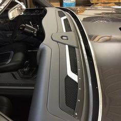 Boss Interiors stitcherman chevelle #BecauseSS custom dash console modern metal billet fiberglass seat interior