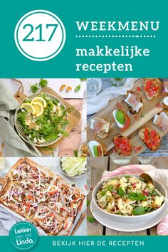 Wat eten we vandaag? Bekijk mijn makkelijke recepten voor het avondeten met deze week: bloemkool salade, plaattaart, kipspiesjes van de bbq en een camping recept met oudbrood: bruschetta's. Geniet ervan. De recepten staan klaar op Lekker eten met Linda. Bruschetta, Bbq, Tacos, Mexican, Ethnic Recipes, Food, Salad, Barbecue, Barrel Smoker