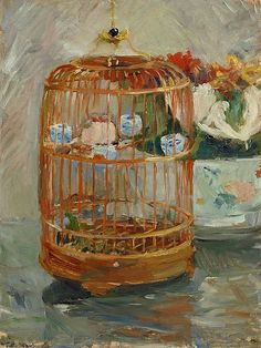 Berthe Morisot The Cage 1885