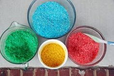 Dye Rice/Noodles - Great home school craft to teach colors and have fun digging!