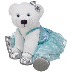 Glistening Winter White Polar Bear - Build-A-Bear Workshop US Build A Bear Outfits, Teddy Bear Clothes, White Polar Bear, Best Kids Toys, Cute Teddy Bears, Bear Art, Winter White, Tigger, Plush