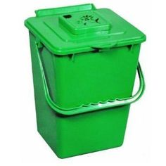 2 4 Gallon Kitchen Composter Compost Waste Collector Bin Green