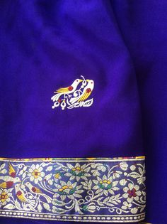Parsi gara embroidery , though the border is woven , the motifs are hand embroidered and no bigger than a penny !