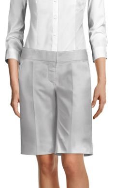 Loose Fitted Berrmuda Shorts Dress Trousers, Wide Leg Pants, White Shorts, Chic, Fitness, Collection, Dresses, Women, Fashion