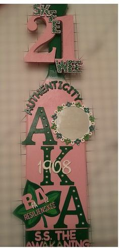 Aka sorority gift diy acrylic paint wooden letters wooden board aka paddle solutioingenieria Gallery