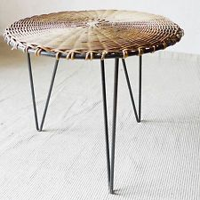 TRES GRANDE TABLE BASSE TRIPODE DESIGN MODERNISTE ANNEE 50-60 ...