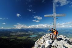 View from the Mittagskogel, Faaker See, Carinthia, Austria, Österreich