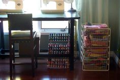 My main floor studio space Wine Rack, Flooring, Quilts, Cabinet, Space, Studio, Storage, Furniture, Home Decor