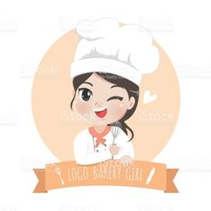 Find tips and tricks, amazing ideas for Bakery logo design. Discover and try out new things about Bakery logo design site Baking Logo Design, Cake Logo Design, Bakery Design, Menu Design, Logo Chef, Logo Boulangerie, Logo Doce, 3. April, Cute Bakery