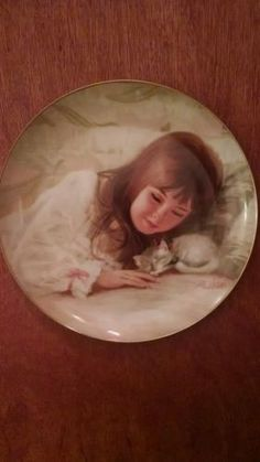 Christmas Kitten Children at Christmas collector plate by Donald Zolan 1985