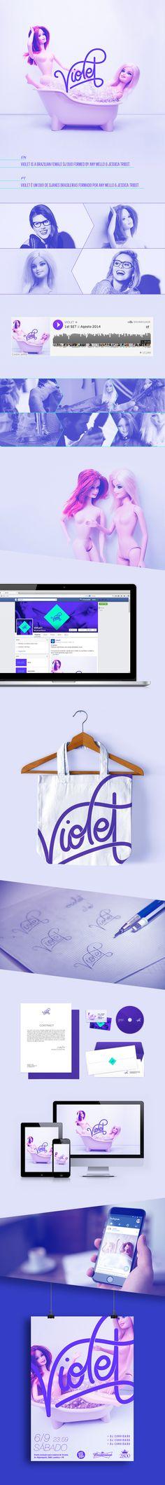 Violet by Pornographitti Explicit Design #branding #emusic #music #brazil…