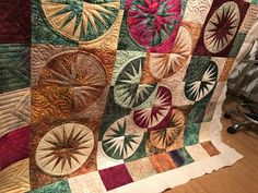 Desert sky quilt, pattern by Judy Niemeyer. Quilted by LibiepDesigns pieced by Mary Kellogg