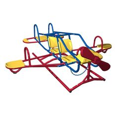 Lifetime Ace Flyer Multi-color Airplane Outdoor Teeter-totter - Overstock™ Shopping - Big Discounts on Lifetime Other Outdoor Play Playground Set, Backyard Playground, Backyard For Kids, Backyard Treehouse, Toddler Playground, Backyard Parties, Playground Design, Backyard Games, Earth Tone Colors