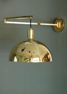 Franco Albini; Brass Wall Lamp, 1960s. visit : http://myartistic.co.uk/ http://www.artisticantichita.com/