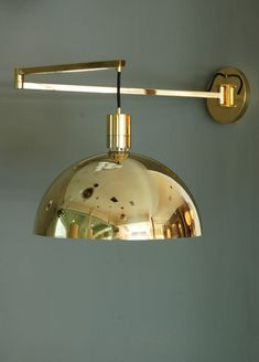 Franco Albini; Brass Wall Lamp, 1960s. visit : http://myartistic.co.uk/ http://www.artisticantichita.com/
