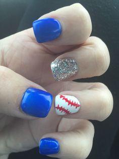 Royals baseball nails