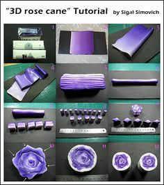 polymer clay rose cane tutorial
