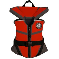 Mustang Lil' Legends 100 Youth Vest - 50-90lbs - Gray/Red - https://www.boatpartsforless.com/shop/mustang-lil-legends-100-youth-vest-50-90lbs-grayred/